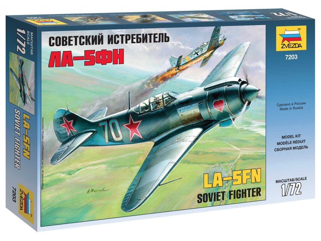 593 model kit lietadlo zvezda 7203 lavotchkin la 5 fn soviet fighter 1 72