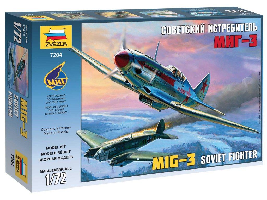 596 model kit lietadlo zvezda 7204 mig 3 soviet fighter 1 72