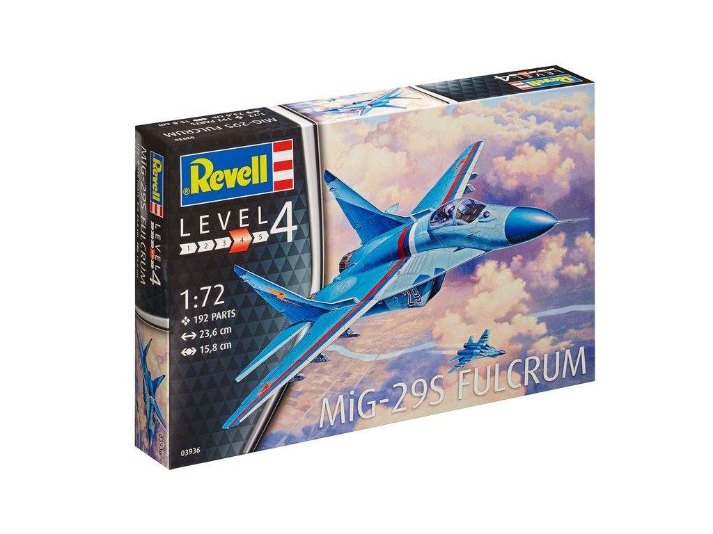 602 plastovy model lietadlo revell 03936 mig 29s fulcrum 1 72