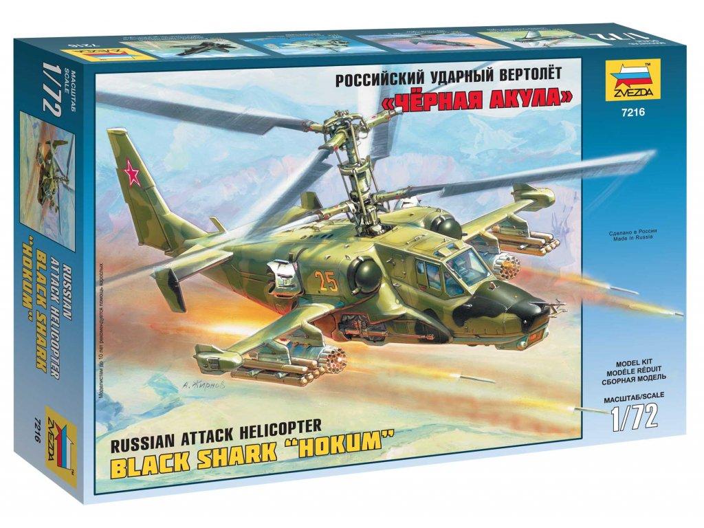 608 model kit vrtulnik zvezda 7216 russian attack helicopter hokum 1 72