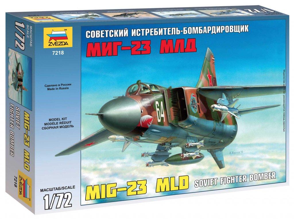 611 model kit lietadlo zvezda 7218 mig 23 mld soviet fighter re release 1 72