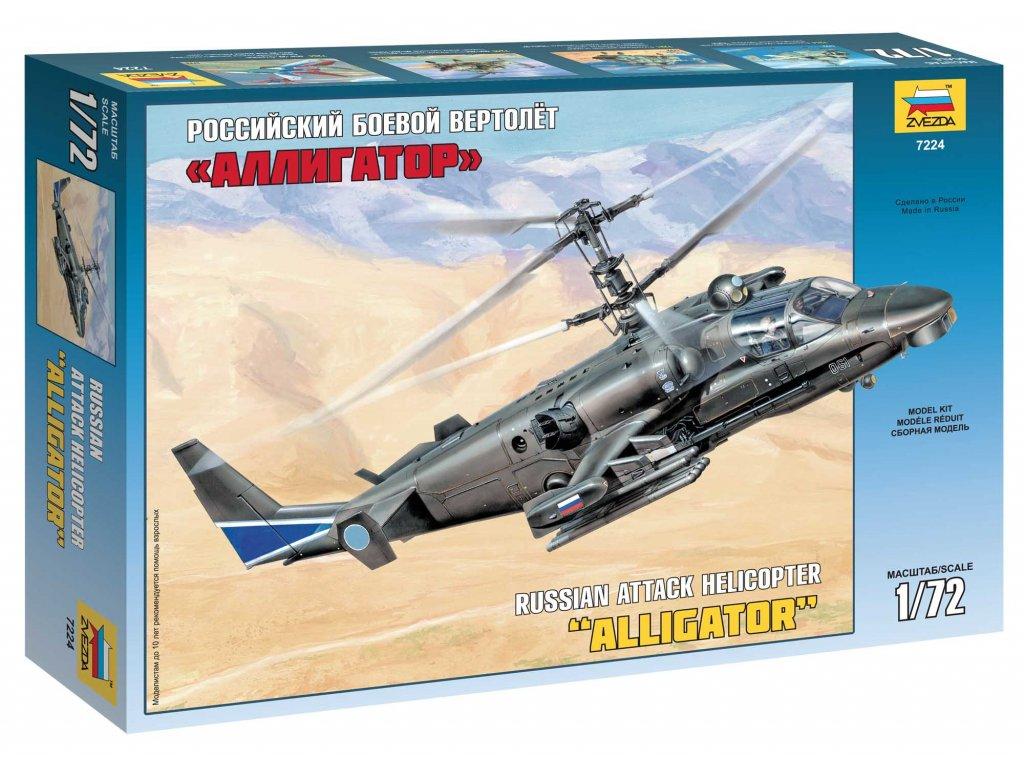 617 model kit vrtulnik zvezda 7224 kamov ka 52 alligator combat helicopter 1 72