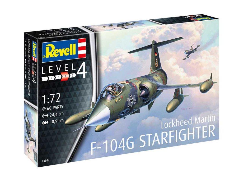 62 plastovy model lietadlo revell 03904 f 104g starfighter 1 72
