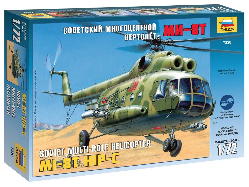 629 model kit vrtulnik zvezda 7230 mil mi 8t soviet helicopter 1 72