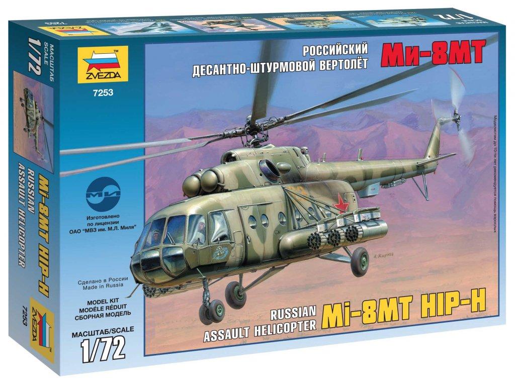 647 model kit vrtulnik zvezda 7253 mil mi 17 soviet helicopter 1 72