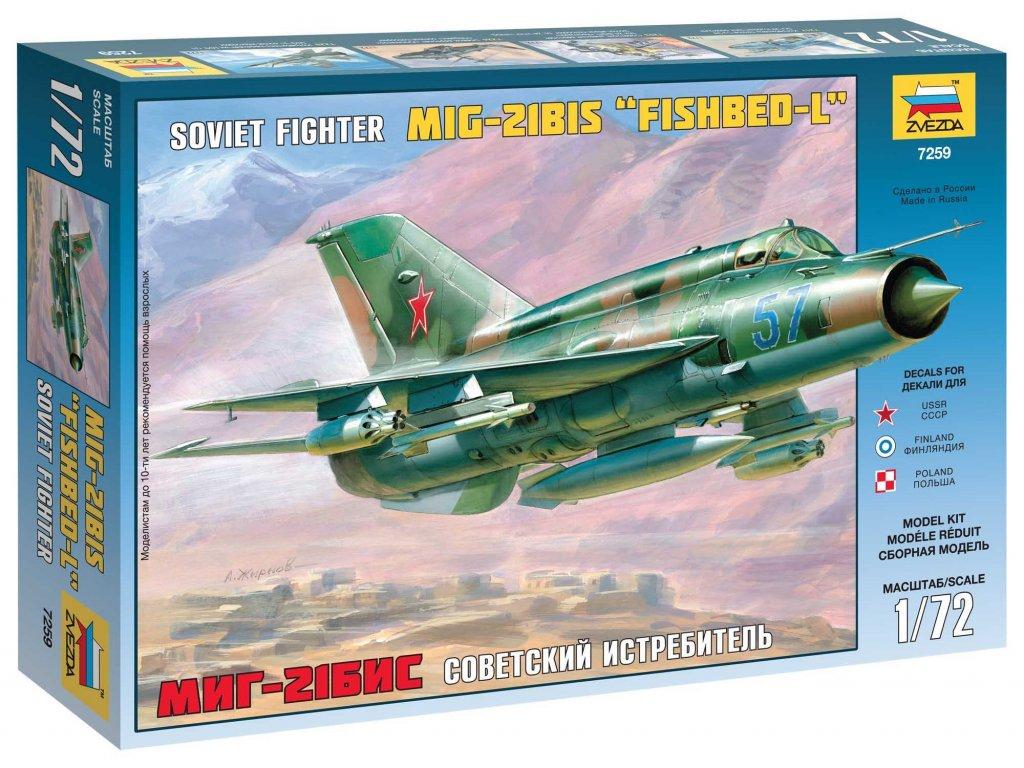 650 model kit lietadlo zvezda 7259 mig 21 bis soviet fighter 1 72