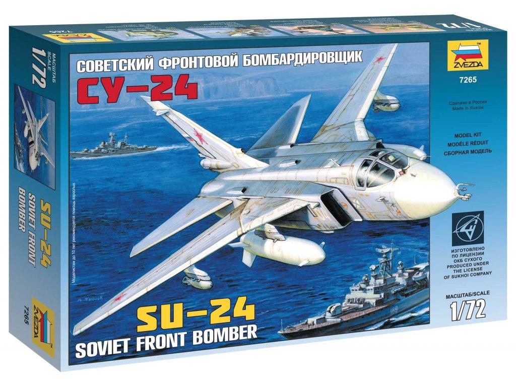 656 model kit lietadlo zvezda 7265 su 24 1 72
