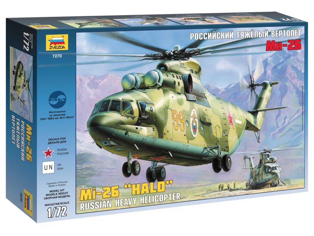 662 model kit vrtulnik zvezda 7270 mil mi 26 soviet helicopter 1 72