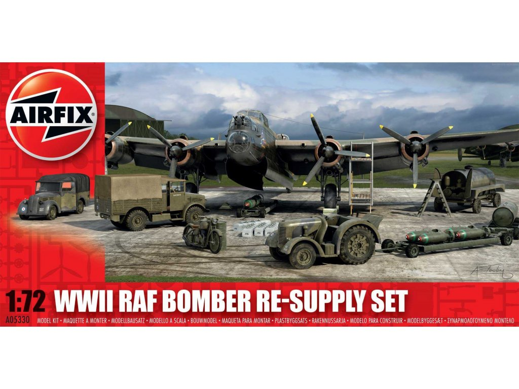 68 plastovy model diorama airfix a05330 bomber re supply set 1 72