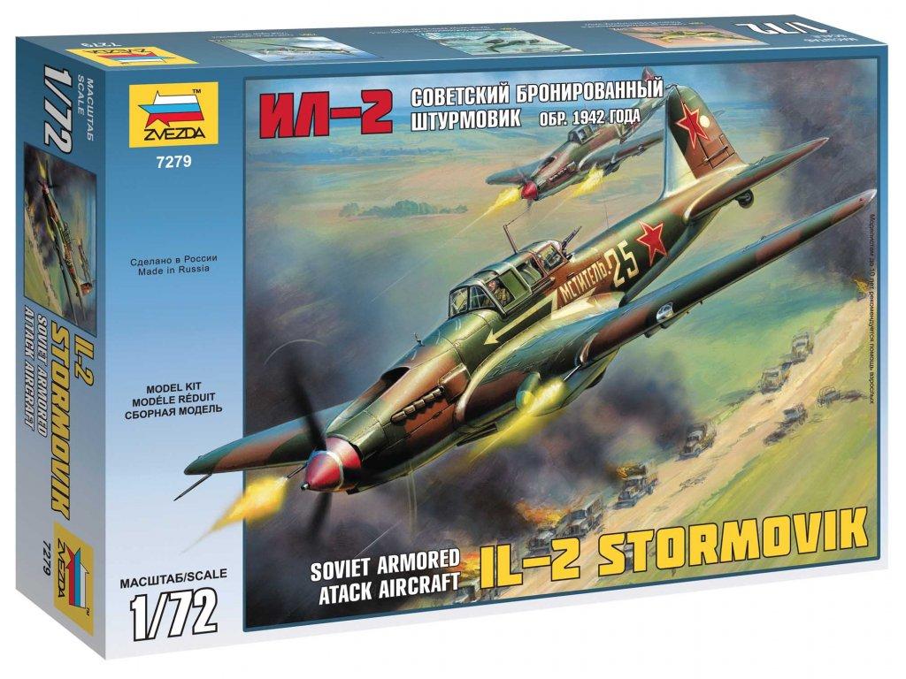 680 model kit lietadlo zvezda 7279 il 2 stormovik 1 72