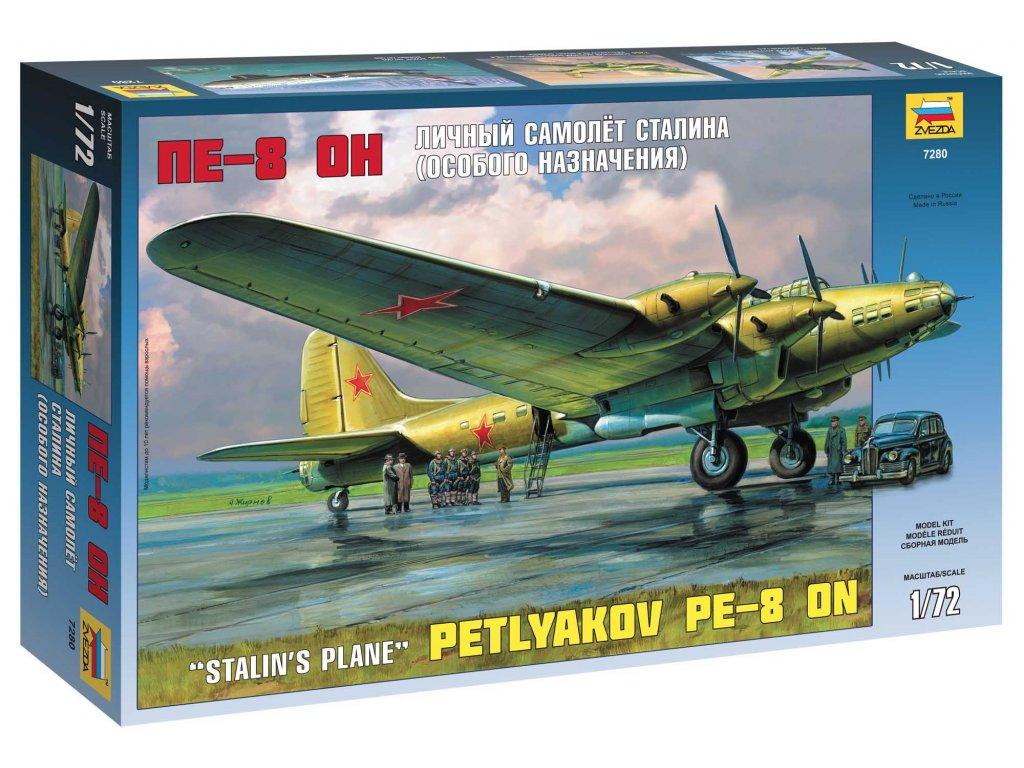 683 model kit lietadlo zvezda 7280 petlyakov pe 8 on stalin s plane 1 72