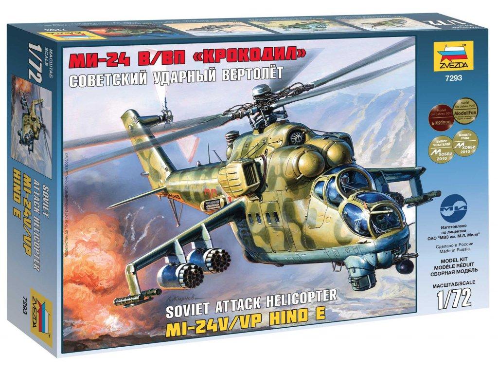 692 model kit vrtulnik zvezda 7293 mil mi 24v vp hind e 1 72