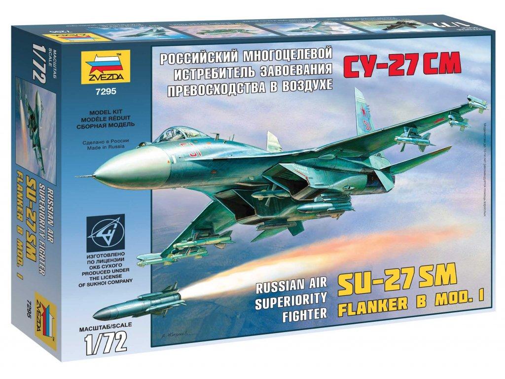 698 model kit lietadlo zvezda 7295 su 27sm 1 72