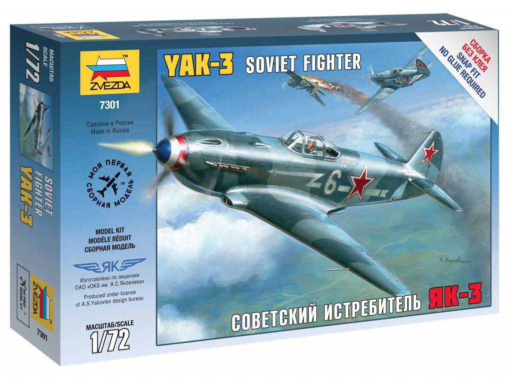 704 snap kit lietadlo zvezda 7301 yak 3 soviet fighter 1 72