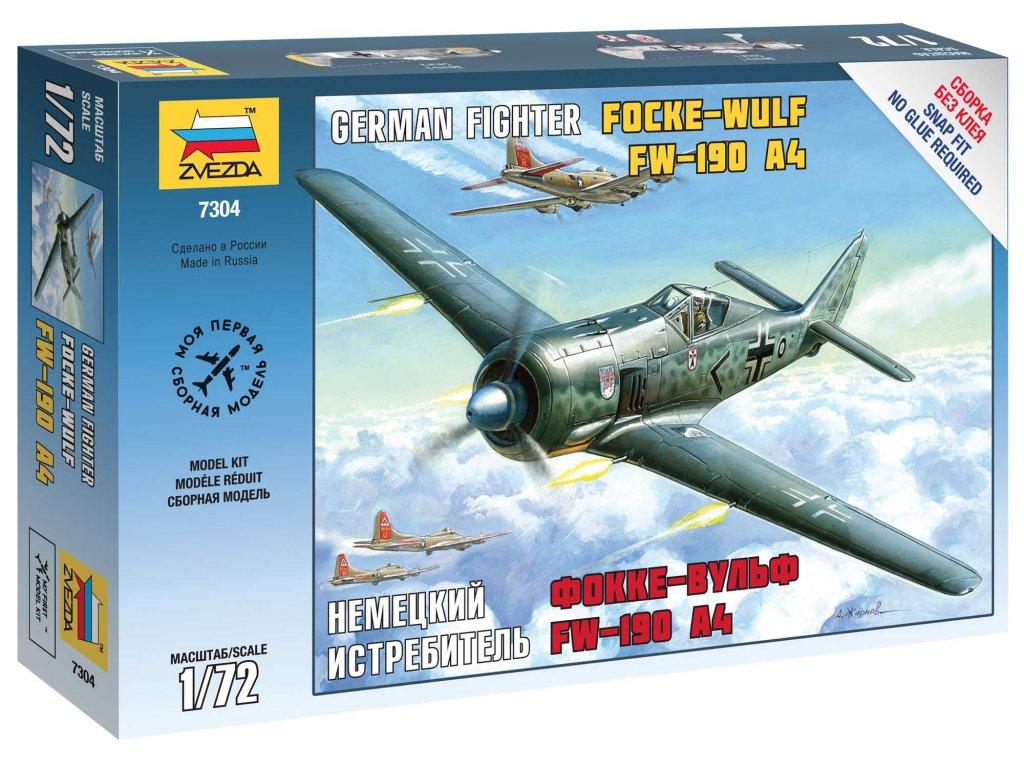 710 snap kit lietadlo zvezda 7304 fockewulf 190 a4 1 72