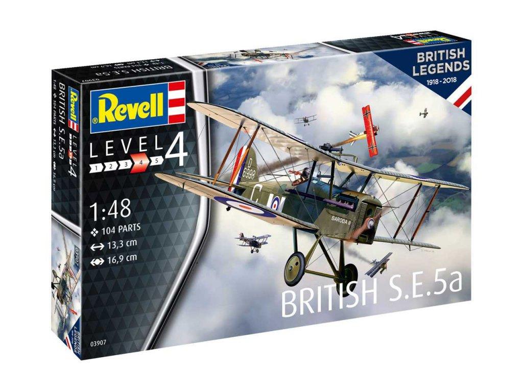 74 plastovy model lietadlo revell 03907 100 years raf british s e 5a 1 48