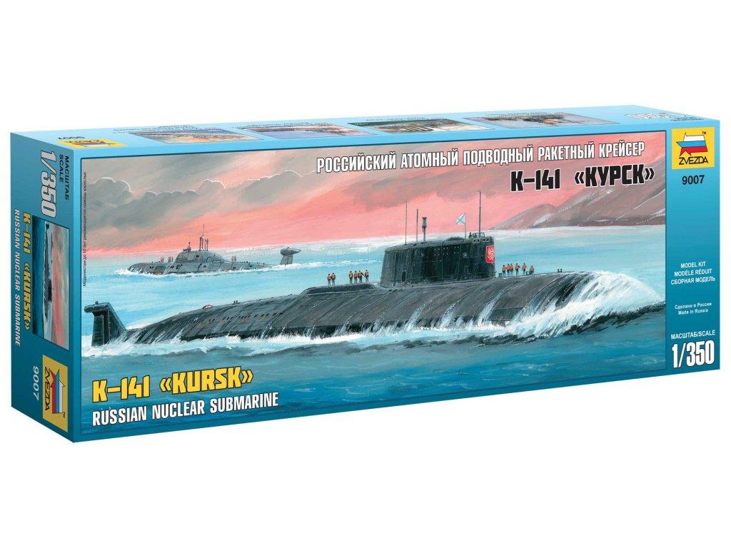 740 model kit ponorka zvezda 9007 nuclear submarine apl kursk 1 350