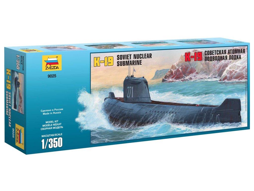 749 model kit ponorka zvezda 9025 k 19 soviet nuclear submarine hotel class 1 350