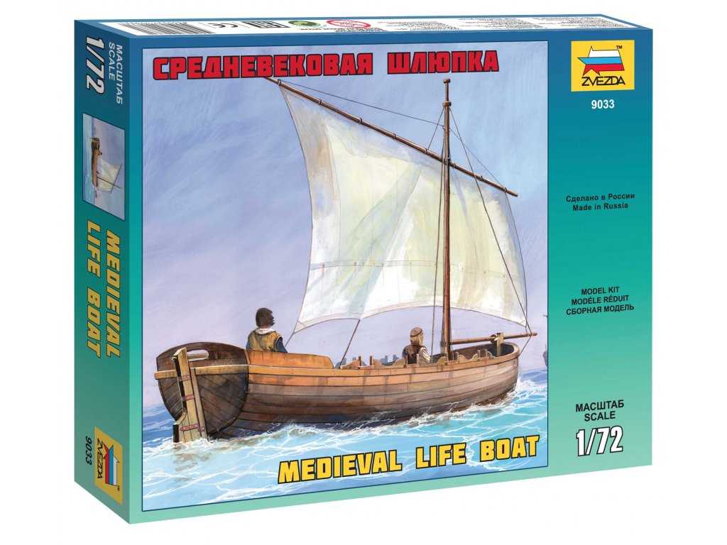 755 model kit lod zvezda 9033 medieval life boat 1 72