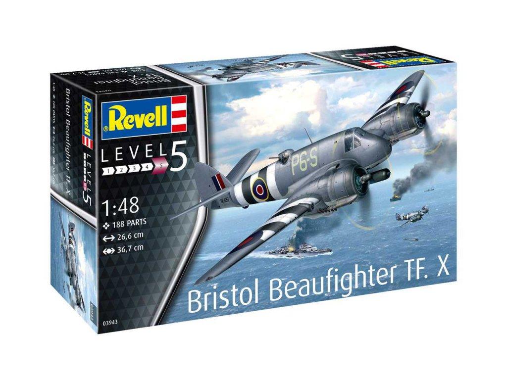 761 plastovy model lietadlo revell 03943 bristol beaufighter tf x 1 48
