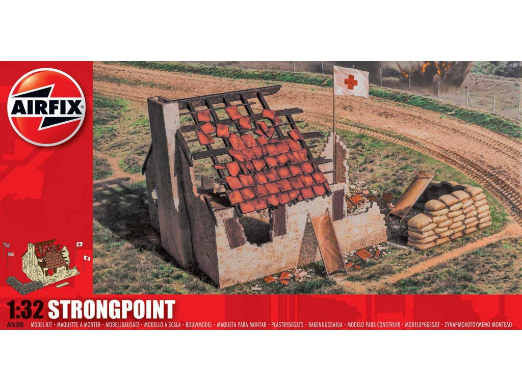 77 plastovy model diorama airfix a06380 strongpoint 1 32