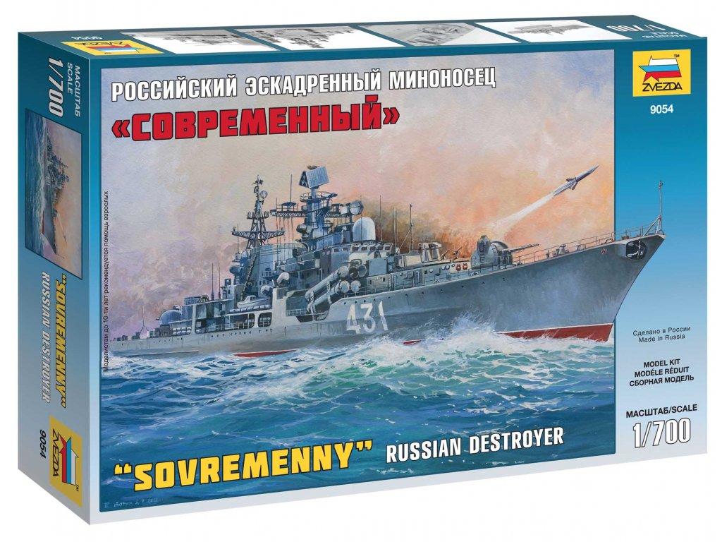 779 model kit lod zvezda 9054 russian destroyer sovremenny 1 700