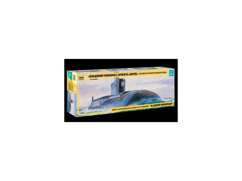 782 model kit ponorka 9058 borey class nuclear submarine vladimir monomakh 1 350