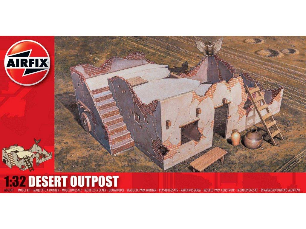 80 plastovy model diorama airfix a06381 desert outpost 1 32