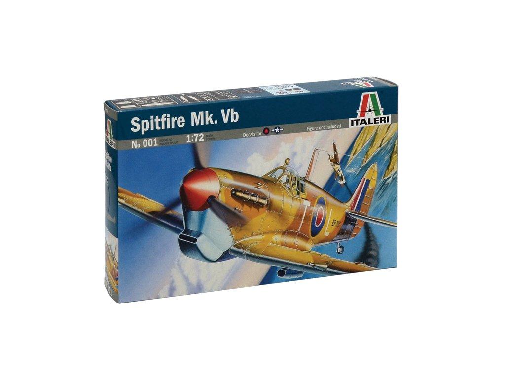 800 model kit lietadlo italeri 0001 spitfire mk vb 1 72