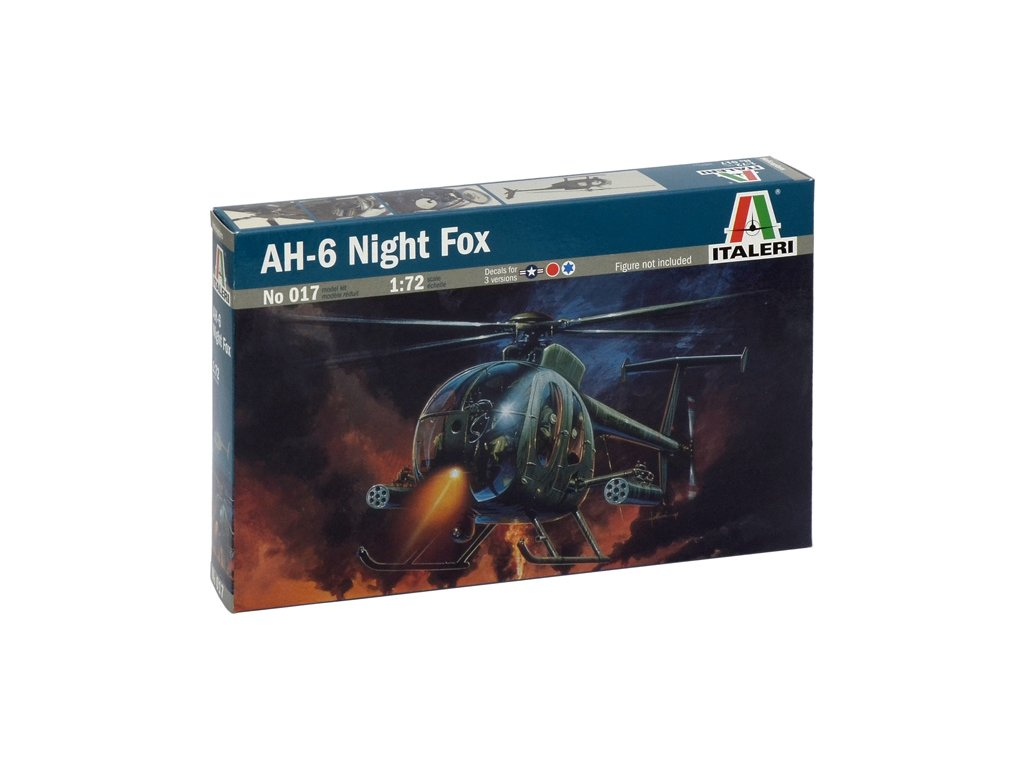815 model kit vrtulnik italeri 0017 ah 6 night fox 1 72