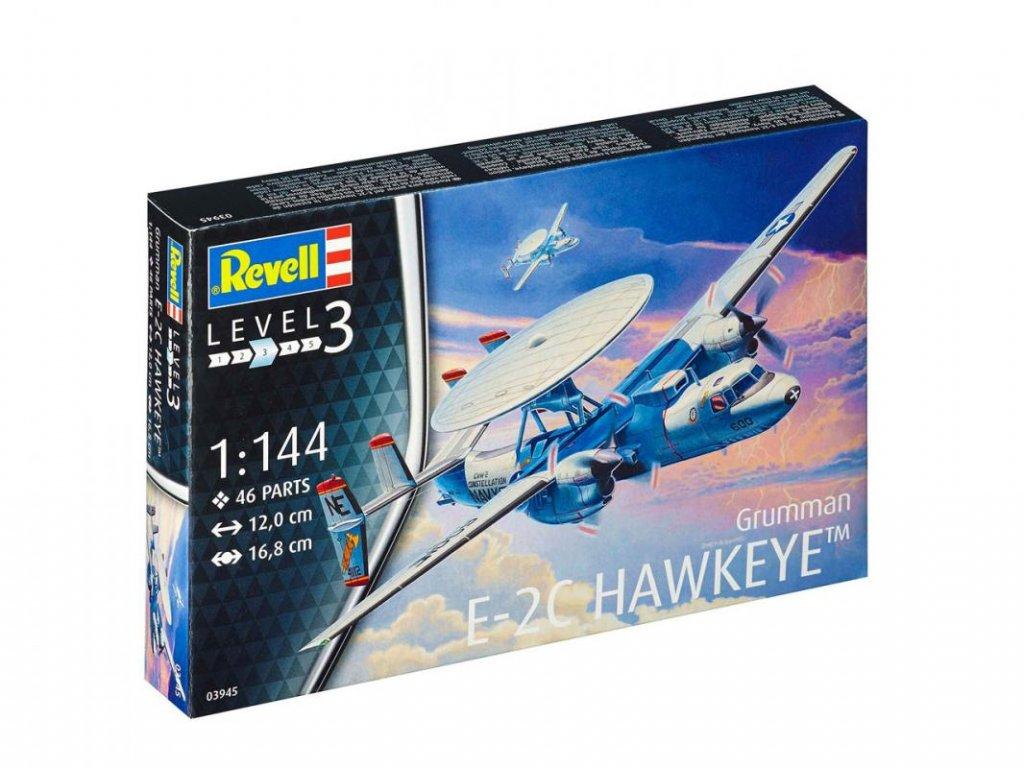 821 plastovy model lietadlo revell 03945 e 2c hawkeye 1 144