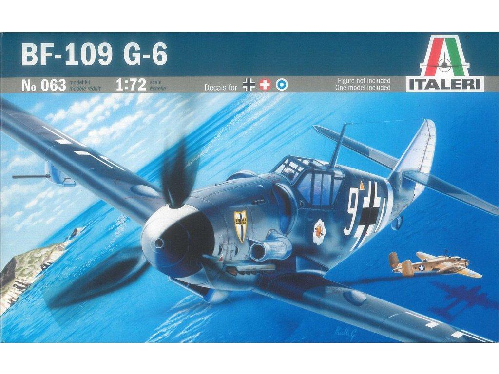 824 model kit lietadlo italeri 0063 bf 109 g 6 1 72