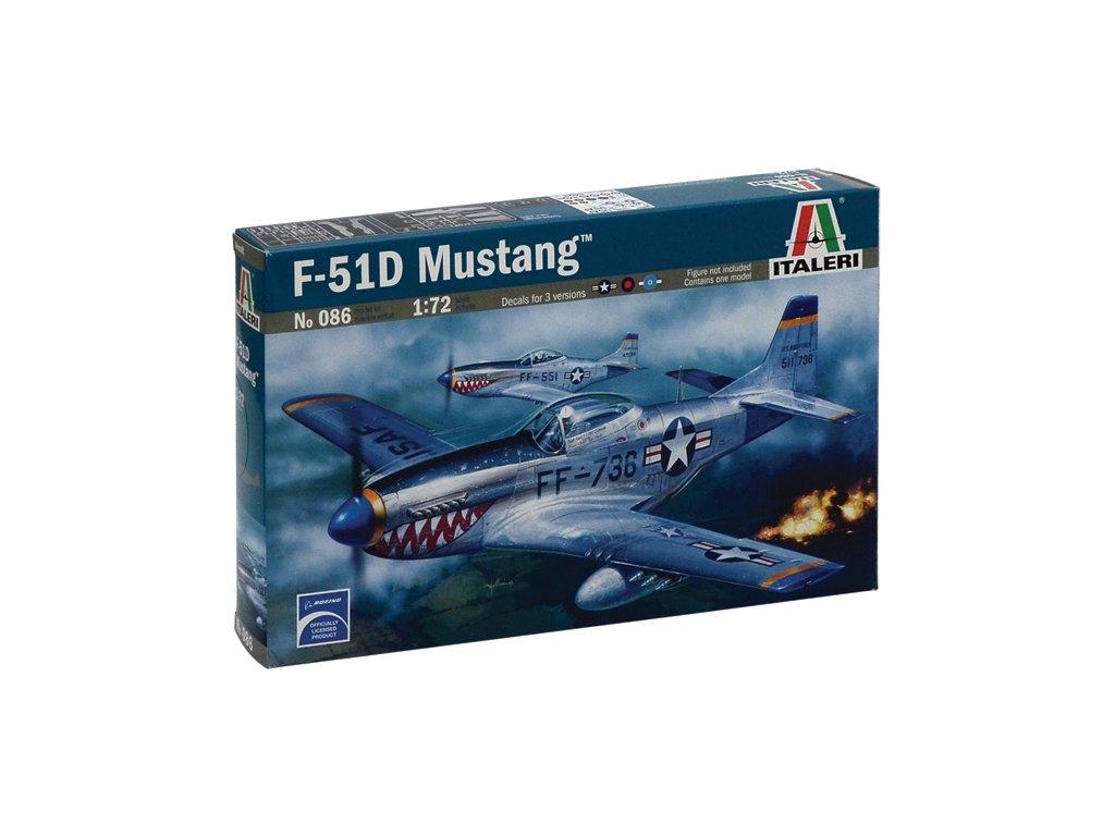 833 model kit lietadlo italeri 0086 f 51d mustang 1 72