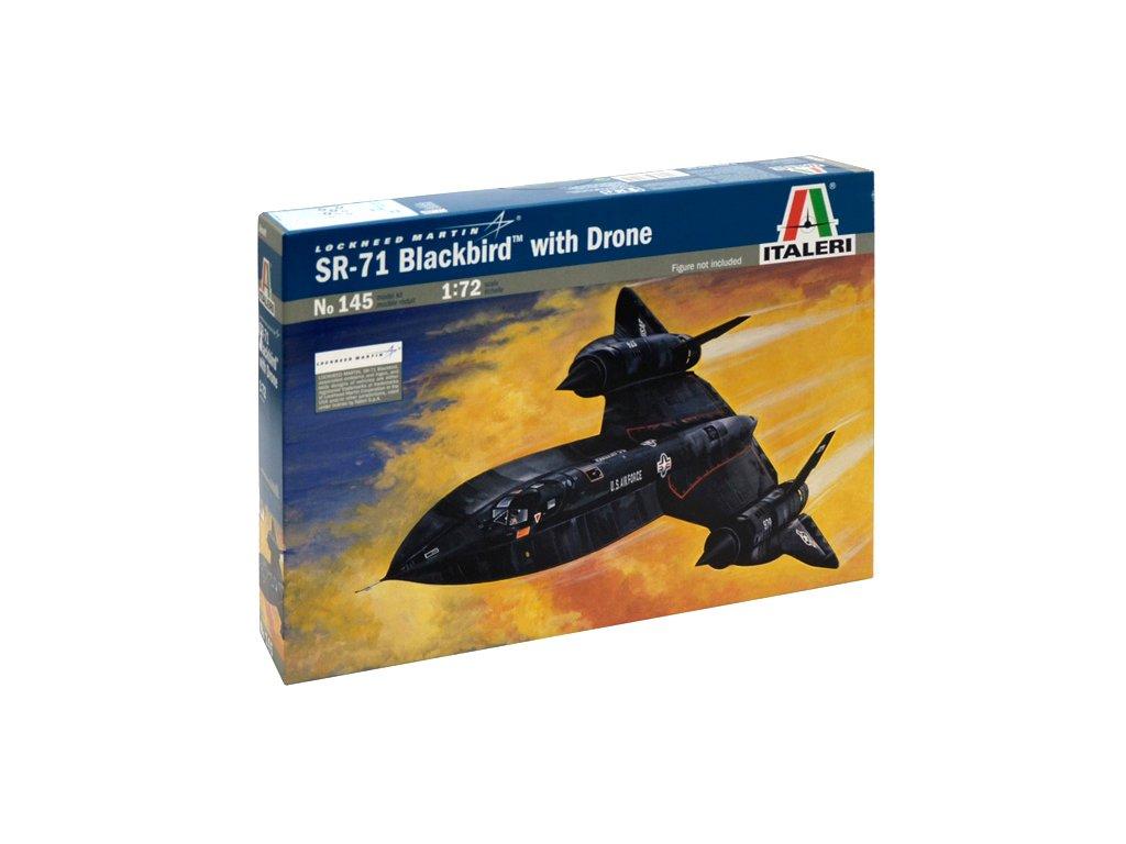 848 model kit lietadlo italeri 0145 sr 71 blackbird with drone 1 72
