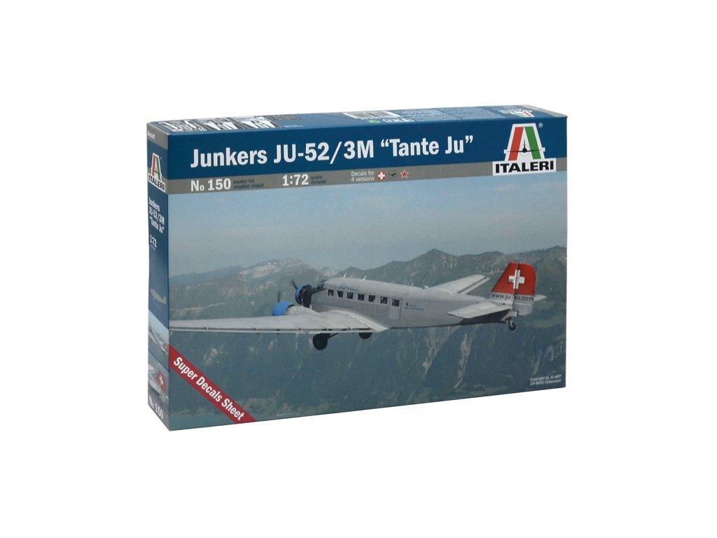 851 model kit lietadlo italeri 0150 junkers ju 52 3 m tante ju 1 72