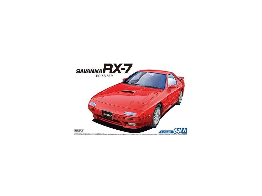 8522 model kit auto aoshima ao05549 mazda fc3s savanna rx 7 89 1 24