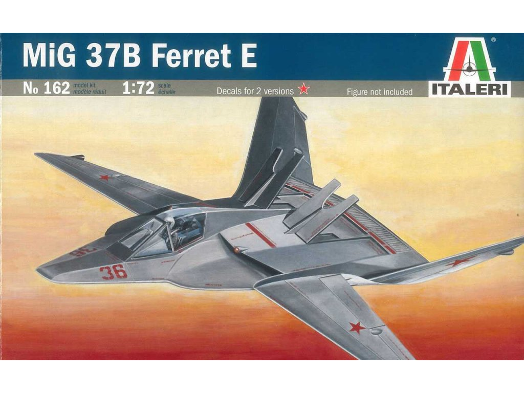 857 model kit lietadlo italeri 0162 mig 37b ferret e 1 72