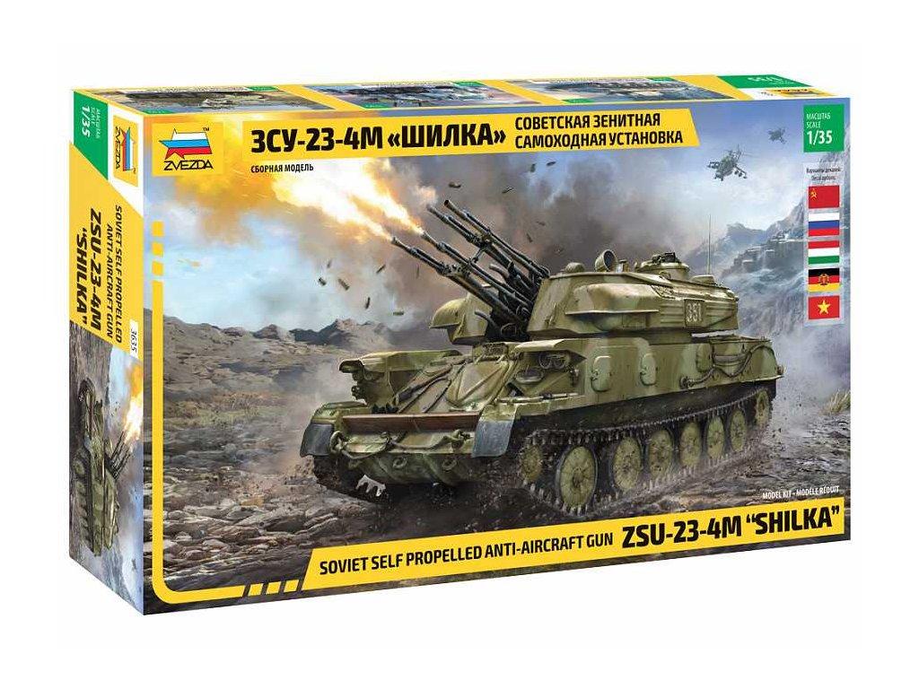 8669 model kit tank zvezda 3635 zsu 23 4m shilka 1 35