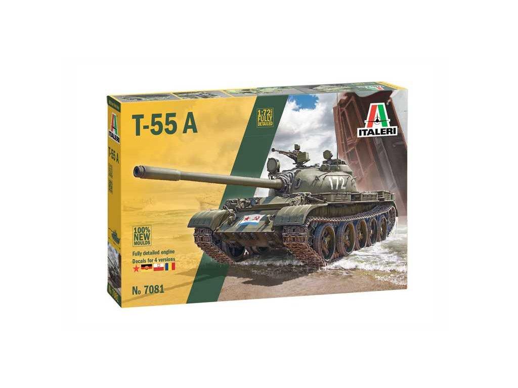 8690 model kit tank italeri 7081 t 55 a 1 72