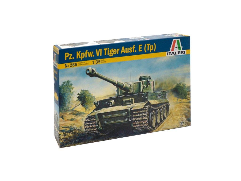875 model kit military italeri 0286 tiger i ausf e h1 1 35