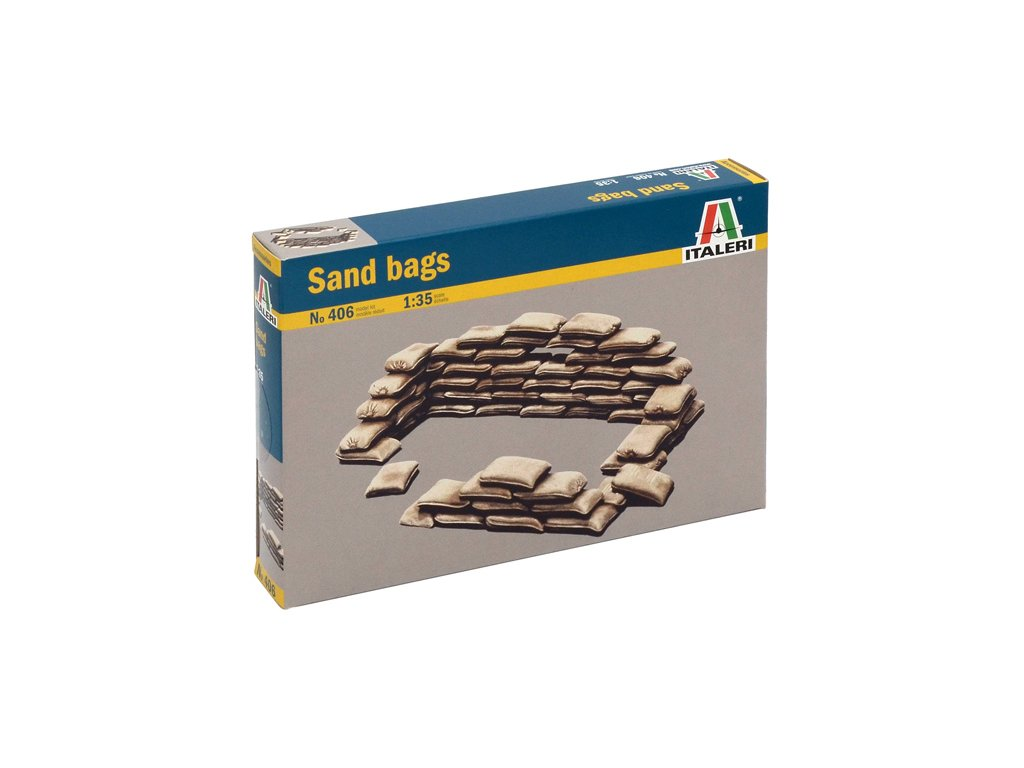 905 model kit doplnky italeri 0406 sandbags 1 35