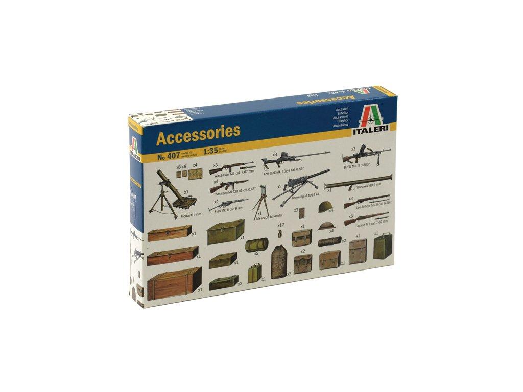 908 model kit doplnky italeri 0407 accessories 1 35