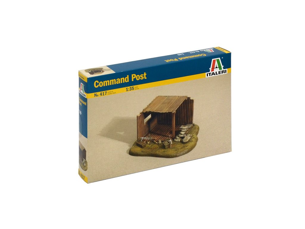 914 model kit budova italeri 0417 command post 1 35