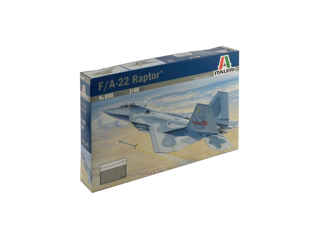941 model kit lietadlo italeri 0850 f 22 raptor 1 48