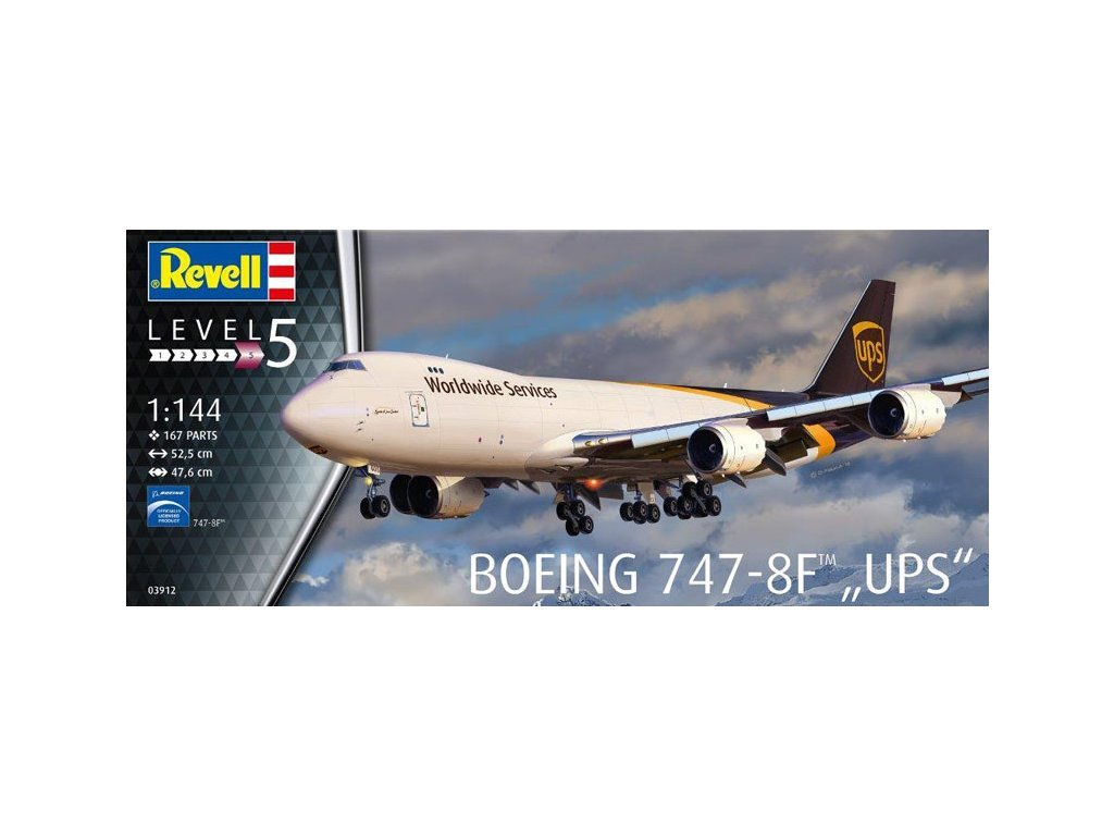 95 plastovy model lietadlo revell 03912 boeing 747 8f ups 1 144
