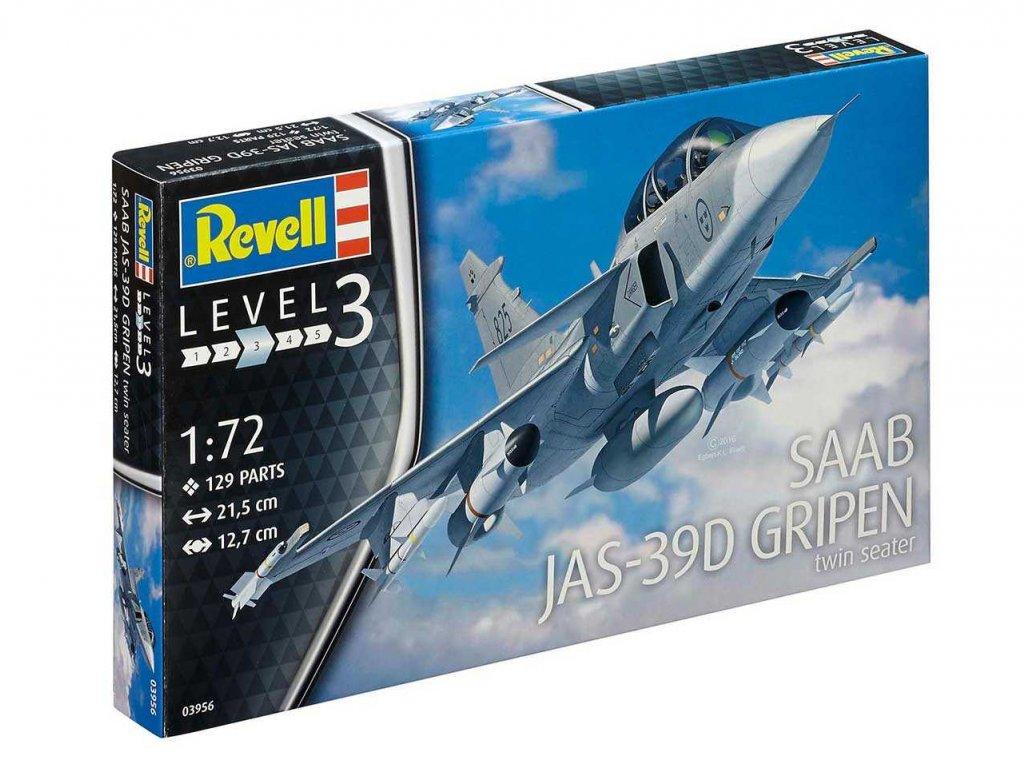 953 plastovy model lietadlo revell 03956 saab jas 39d gripen twinseater 1 72