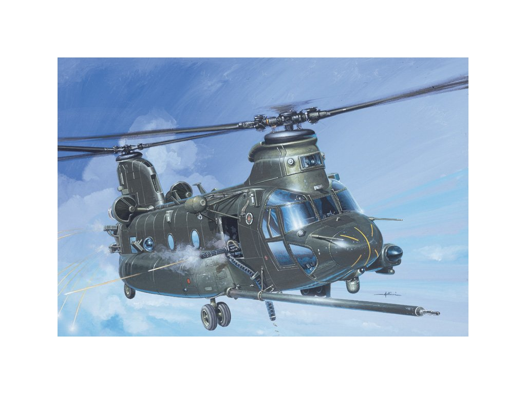956 model kit vrtulnik italeri 1218 mh 47 e soa chinook tm 1 72