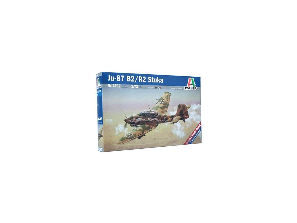 977 model kit lietadlo italeri 1292 ju 87 b 2 r 2 stuka 1 72