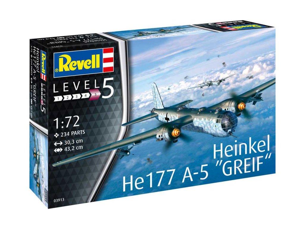 98 plastovy model lietadlo revell 03913 heinkel he177 a 5 greif 1 72
