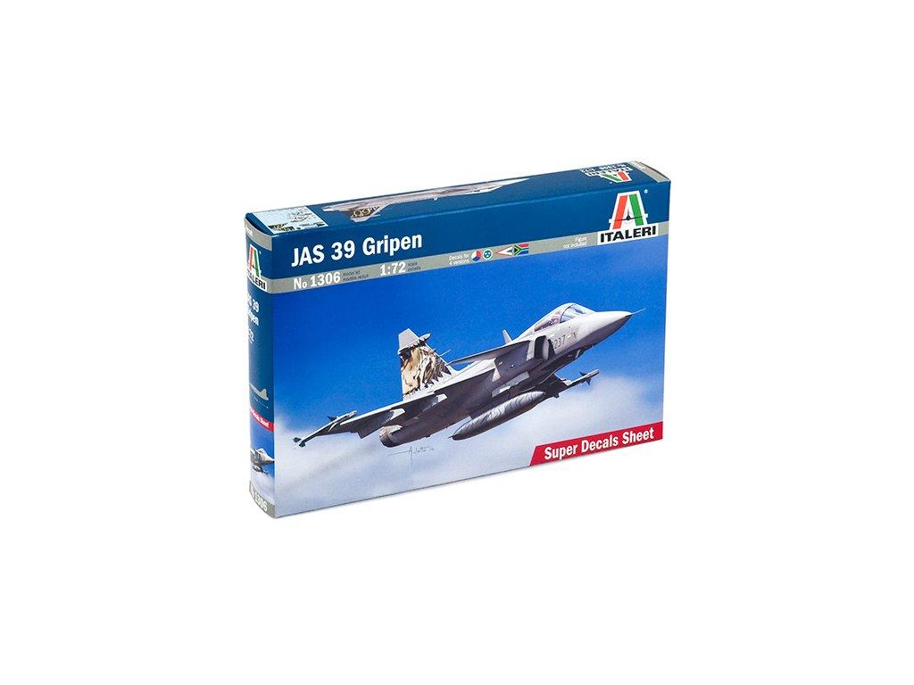 992 model kit lietadlo italeri 1306 jas 39 gripen 1 72